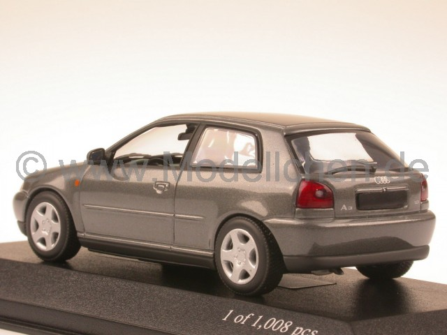 audi a3 1995 grau modellauto minichamps 1 43. Black Bedroom Furniture Sets. Home Design Ideas