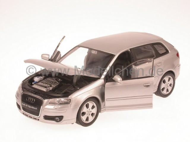 audi a3 sportback 2003 silber modellauto welly 1 24. Black Bedroom Furniture Sets. Home Design Ideas