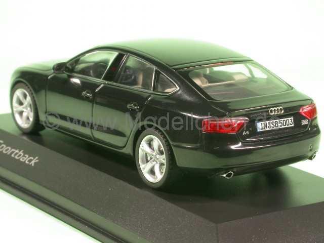 audi a5 sportback schwarz modellauto schuco 1 43. Black Bedroom Furniture Sets. Home Design Ideas