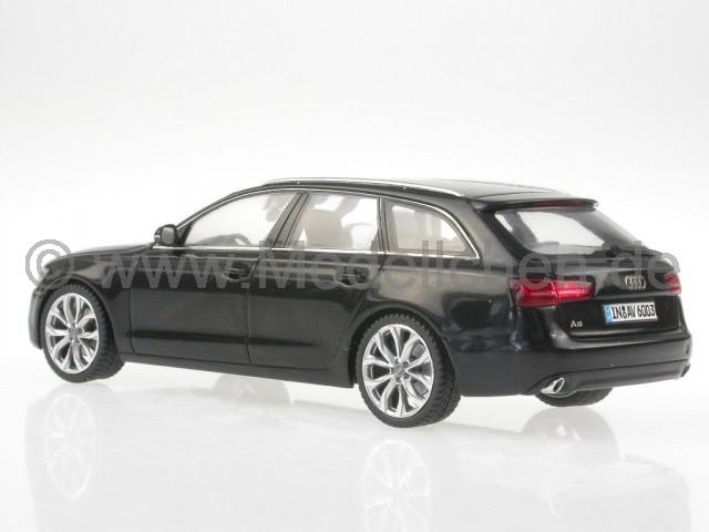 audi a6 c7 avant schwarz modellauto schuco 1 43. Black Bedroom Furniture Sets. Home Design Ideas