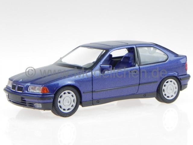 schuco bmw e36 3er compact blau metallic modellauto schuco. Black Bedroom Furniture Sets. Home Design Ideas