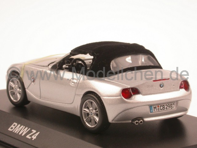 bmw e85 z4 silber softtop modellauto norev 1 43. Black Bedroom Furniture Sets. Home Design Ideas