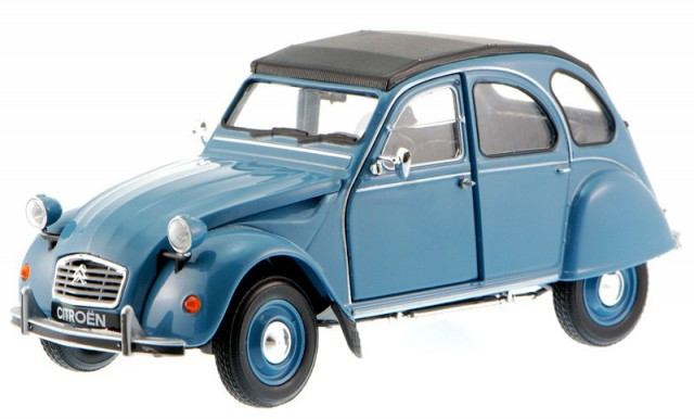 citroen 2cv 2 cv ente blau modellauto 436251 welly 1 34. Black Bedroom Furniture Sets. Home Design Ideas