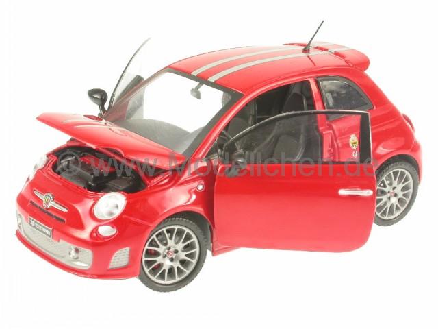 fiat 500 abarth 695 tributo ferrari rot modellauto mondo 1 24. Black Bedroom Furniture Sets. Home Design Ideas
