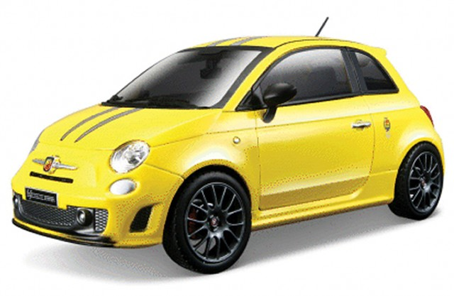 fiat 500 abarth 695 tributo ferrari gelb modellauto 21070 bburago 1 24. Black Bedroom Furniture Sets. Home Design Ideas