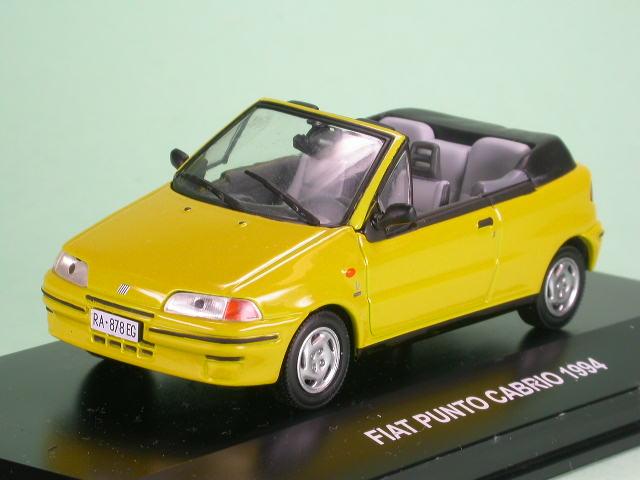 fiat punto cabrio gelb modellauto eg 1 43. Black Bedroom Furniture Sets. Home Design Ideas