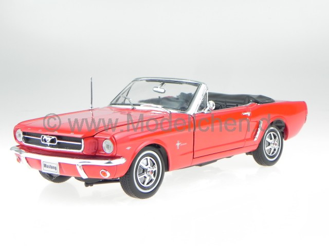 ford mustang cabrio 1964 1 2 rot modellauto 12519 welly 1 18. Black Bedroom Furniture Sets. Home Design Ideas