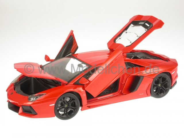 lamborghini aventador lp700 4 orange modellauto 18 11033o bburago 1 18. Black Bedroom Furniture Sets. Home Design Ideas