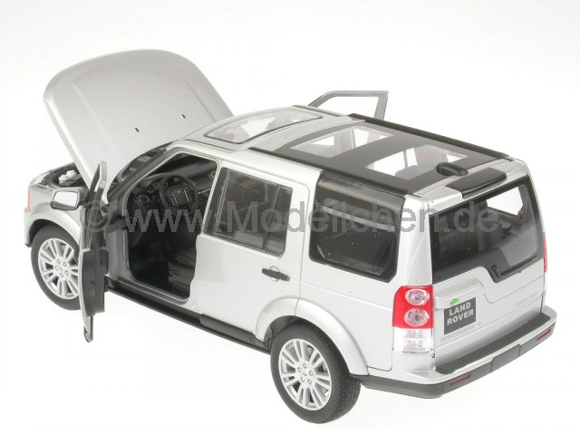 Land rover discovery 4 silber modellauto 24008 welly 1 24 for Discovery 24 shop