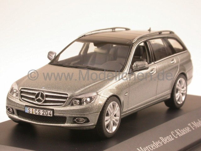 mercedes s204 c klasse t modell palladiumsilber modellauto schuco 1 43. Black Bedroom Furniture Sets. Home Design Ideas