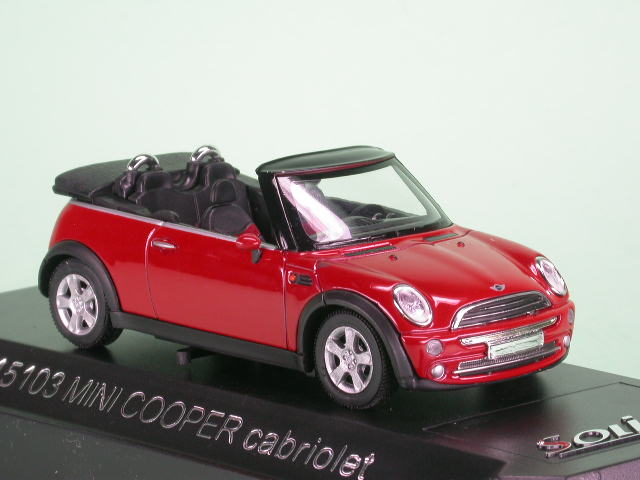 mini cooper cabrio rot modellauto solido 1 43. Black Bedroom Furniture Sets. Home Design Ideas