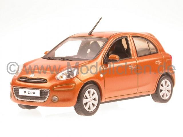 nissan micra 2010 orange modellauto j collection 1 43