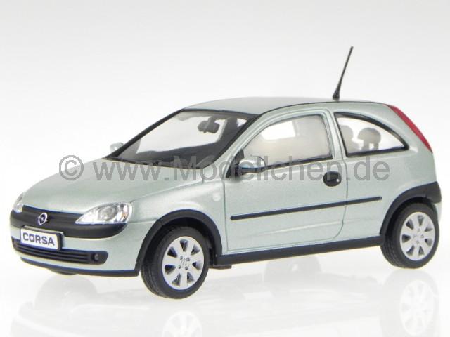 opel corsa c 2000 hell gr n metallic modellauto minichamps. Black Bedroom Furniture Sets. Home Design Ideas