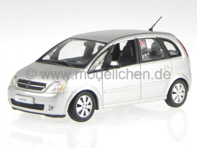 opel meriva silber modellauto 400042100 minichamps 1 43. Black Bedroom Furniture Sets. Home Design Ideas
