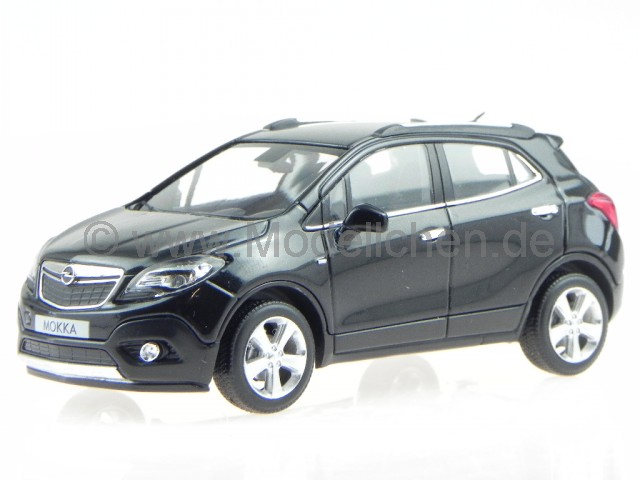 opel mokka 2012 schwarz modellauto 410042101 minichamps 1 43. Black Bedroom Furniture Sets. Home Design Ideas