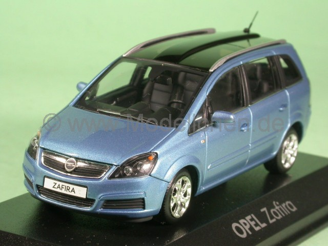 opel zafira b blau modellauto schuco 1 43. Black Bedroom Furniture Sets. Home Design Ideas