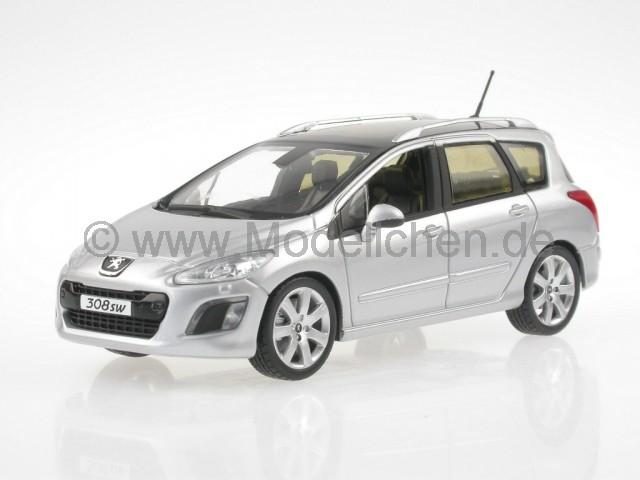 peugeot 308 sw 2011 silber modellauto norev 1 43. Black Bedroom Furniture Sets. Home Design Ideas