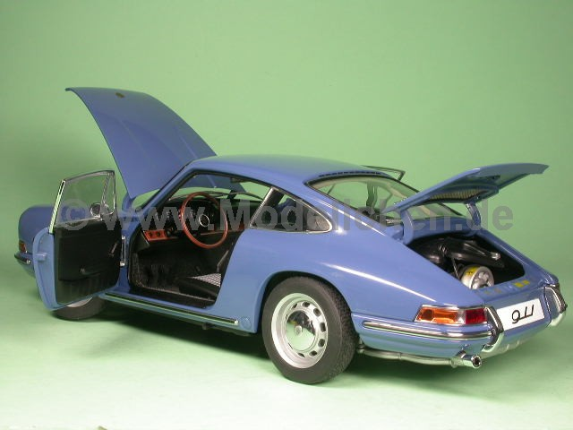 porsche 911 1964 blau modellauto autoart 1 18. Black Bedroom Furniture Sets. Home Design Ideas
