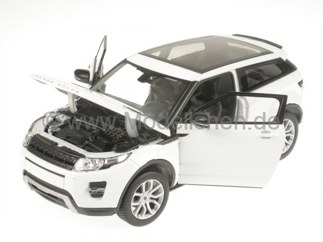land rover range rover evoque weiss modellauto welly 1 24. Black Bedroom Furniture Sets. Home Design Ideas