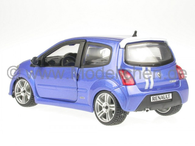 renault twingo gordini rs blau modellauto bburago 1 24. Black Bedroom Furniture Sets. Home Design Ideas