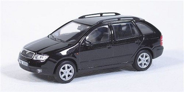 skoda fabia combi schwarz modellauto abrex 1 43. Black Bedroom Furniture Sets. Home Design Ideas