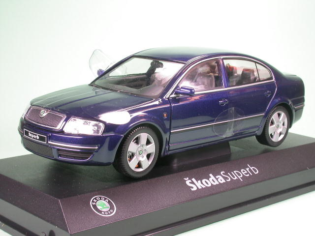 skoda superb blue tiefseeblue diecast model car 124ab 003k abrex 1 24 ebay. Black Bedroom Furniture Sets. Home Design Ideas
