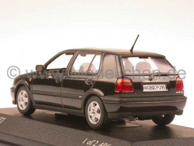 vw golf 3 gti schwarz modellauto minichamps 1 43. Black Bedroom Furniture Sets. Home Design Ideas