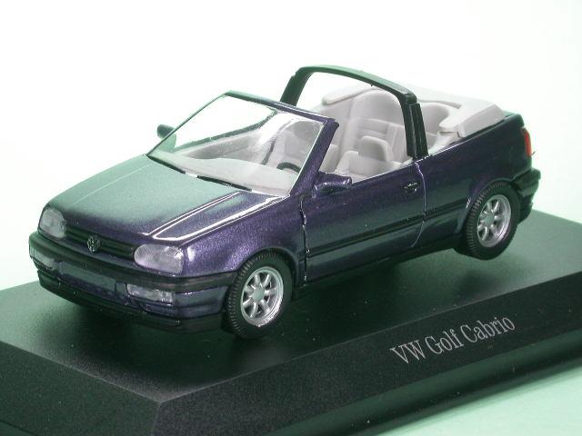 vw golf 3 cabriolet violett modellauto schabak 1 43. Black Bedroom Furniture Sets. Home Design Ideas