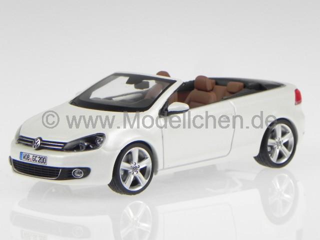 vw golf 6 cabrio onyx weiss perlmutt modellauto schuco 1 43. Black Bedroom Furniture Sets. Home Design Ideas