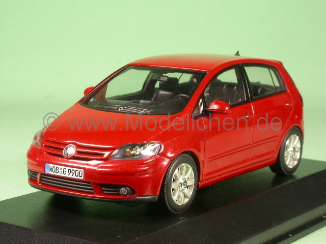 vw golf 5 plus sunset red modellauto minichamps 1 43. Black Bedroom Furniture Sets. Home Design Ideas