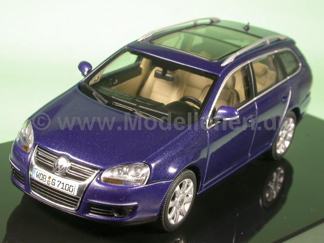 vw golf 5 variant 2008 blau modellauto 1 43 autoart. Black Bedroom Furniture Sets. Home Design Ideas