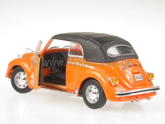 vw k fer beetle cabrio orange modellauto cararama 1 43. Black Bedroom Furniture Sets. Home Design Ideas