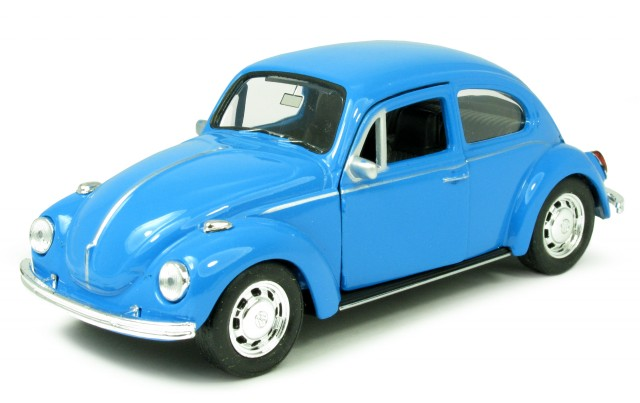 vw k fer beetle 1970 blau modellauto 4972007 welly 1 34. Black Bedroom Furniture Sets. Home Design Ideas