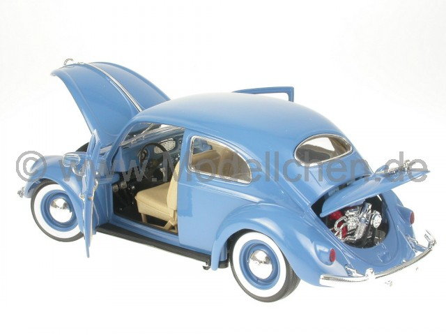 vw k fer beetle 1200 ovali blau modellauto bburago 1 18. Black Bedroom Furniture Sets. Home Design Ideas