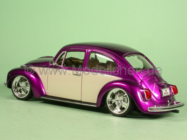 vw k fer beetle tuning lila modellauto welly 1 24. Black Bedroom Furniture Sets. Home Design Ideas
