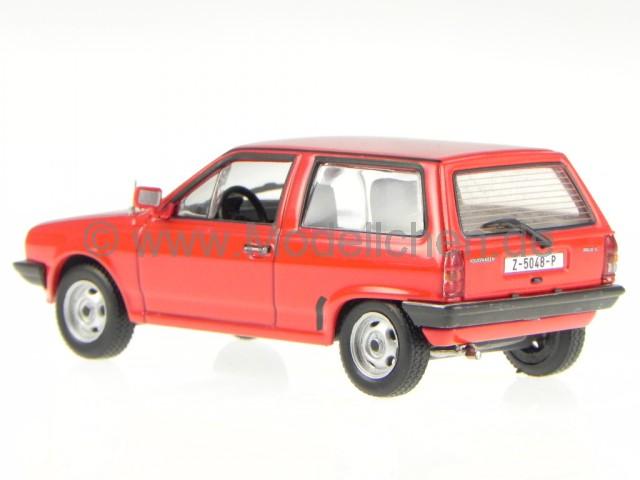 vw polo 2 steilheck 1987 rot modellauto 1 43. Black Bedroom Furniture Sets. Home Design Ideas