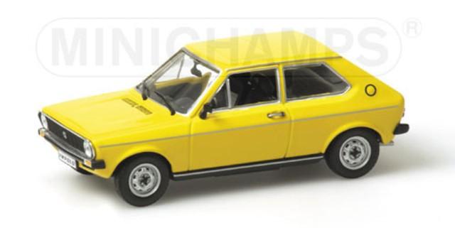vw polo i gelb modellauto minichamps 1 43. Black Bedroom Furniture Sets. Home Design Ideas