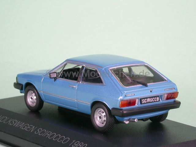 vw scirocco i gl 1980 blaumetallic modellauto ixo 1 43. Black Bedroom Furniture Sets. Home Design Ideas