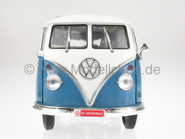 yatming vw t1 bus bulli samba van blau modellauto yatming. Black Bedroom Furniture Sets. Home Design Ideas