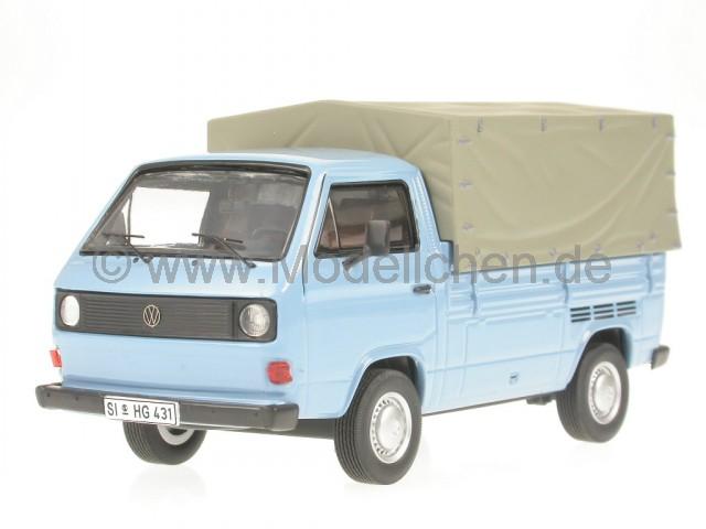 vw t3a pritsche blau bus bulli modellauto 11503 premium. Black Bedroom Furniture Sets. Home Design Ideas