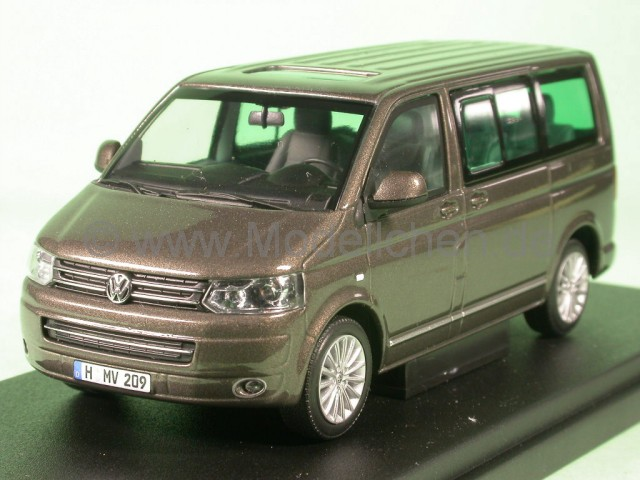 vw t5 multivan bus bulli 2009 moccabraun modellauto. Black Bedroom Furniture Sets. Home Design Ideas