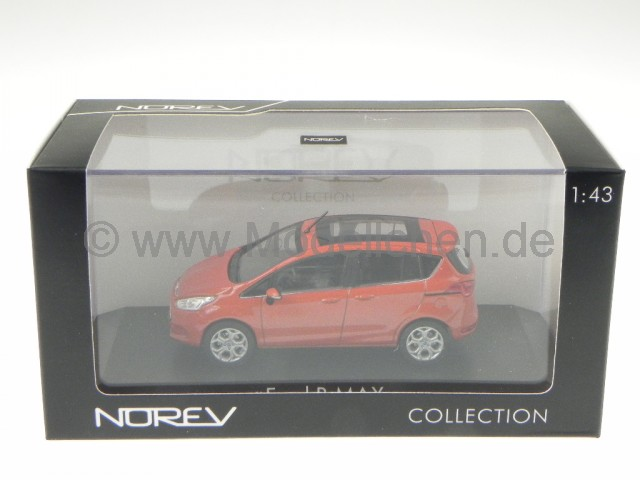 ford b max 2012 rot met modellauto 270541 norev 1 43. Black Bedroom Furniture Sets. Home Design Ideas