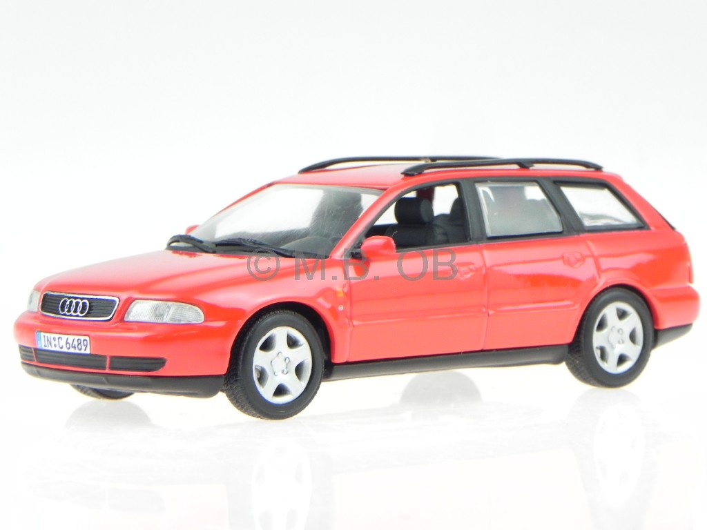 audi a4 b5 avant 1996 rot modellauto minichamps 1 43 ebay. Black Bedroom Furniture Sets. Home Design Ideas