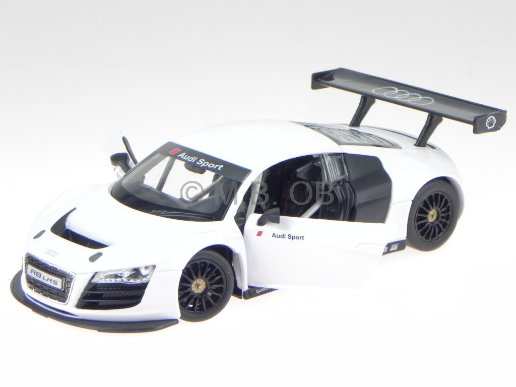 audi r8 lms weiss modellauto 34000 rastar 1 24 ebay. Black Bedroom Furniture Sets. Home Design Ideas