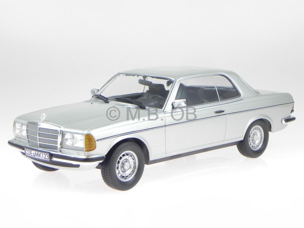 mercedes c123 280 ce 1980 silver modelcar 183586 norev 1 18 ebay. Black Bedroom Furniture Sets. Home Design Ideas
