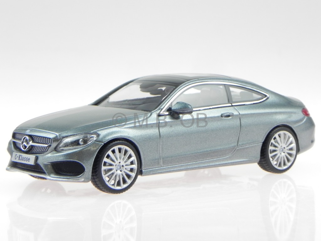 mercedes c205 c class coupe grey amg line modelcar iscale 1 43 ebay. Black Bedroom Furniture Sets. Home Design Ideas