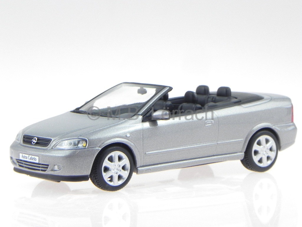 opel astra g cabrio silber modellauto minichamps 1 43 ebay. Black Bedroom Furniture Sets. Home Design Ideas