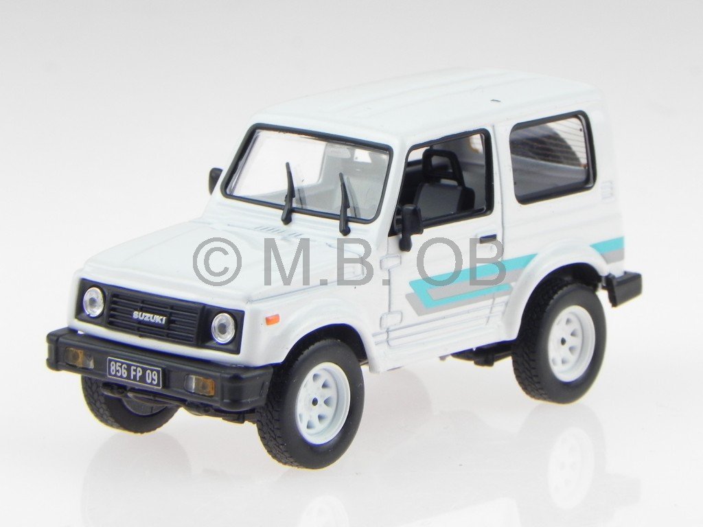 suzuki santana suzuki samurai 1986 weiss modellauto 1 43 ebay. Black Bedroom Furniture Sets. Home Design Ideas