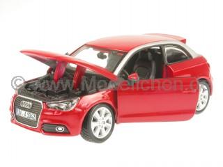 Audi A1 rot Modellauto 18-21058 Bburago 1:24