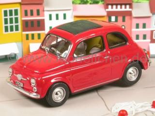 Fiat 500 F rot Modellauto Diorama Altaya 1:43
